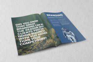 Indepth branding brochure inside